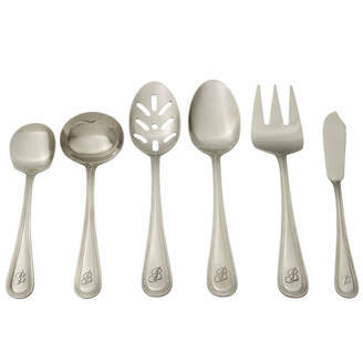 Asstd National Brand RiverRidge Beaded 46PC Personalized or Solid Flatware Set A
