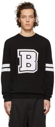 Balmain Black Knit Logo Sweater