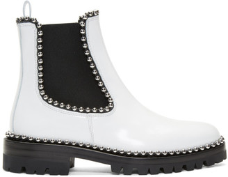 Alexander Wang White Spencer Boots