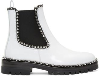 Alexander Wang White Spencer Boots