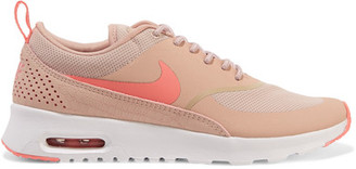Nike - Air Max Thea Embossed Leather And Mesh Sneakers - Pink $95 thestylecure.com