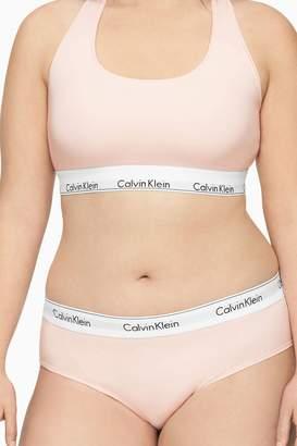 Calvin Klein Womens Pink Modern Cotton Plus Bikini Brief - Pink