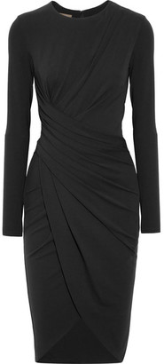 Michael Kors Collection - Draped Stretch-jersey Dress - Black $1,450 thestylecure.com