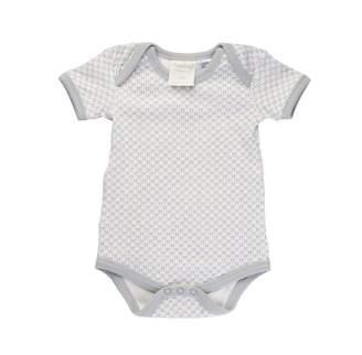 Sapling Organic Dove Grey Short Sleeve Bodysuit 6-12m