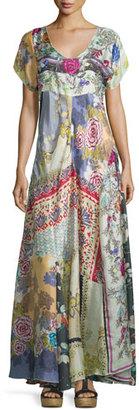 Johnny Was Dolce Vivo Patch Maxi Dress, Multi Colors $400 thestylecure.com