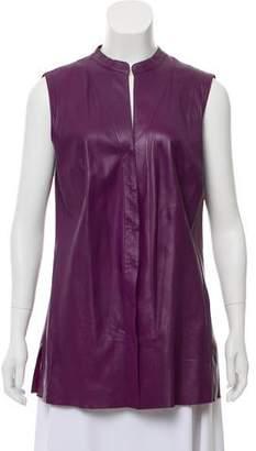 Akris Leather Sleeveless Top