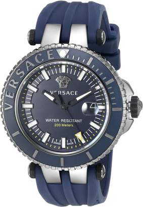 Versace Men's VAK020016 V-Race Analog Display Swiss Quartz Watch