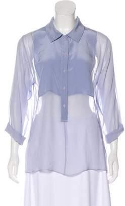 Jenni Kayne Silk Sheer Long Sleeve Top