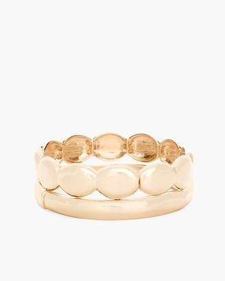Chico's Chicos Sleek Gold-Tone Stretch Bracelet Set