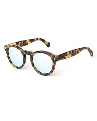 Illesteva Leonard Round Mirrored Sunglasses, Tortoise/Silver $177 thestylecure.com