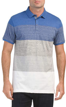 Short Sleeve Gradient Stripe Polo