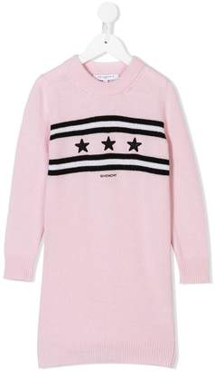 Givenchy Kids logo knitted dress