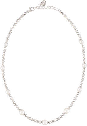 Majorica Beaded Round Pearl Necklace, White