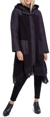Nic+Zoe Catalyst Fringe Hem Coat with Hood