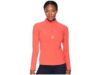 Spyder Shimmer Zip T-Neck Top