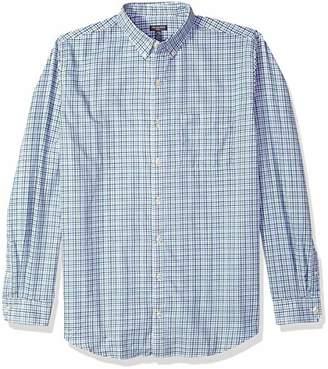 Van Heusen Men's Big Tall Flex Long Sleeve Tattersal Button Down Shirt