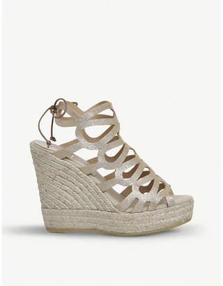 Office Berti metallic-leather wedge sandals