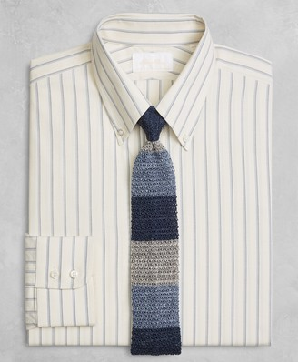 Brooks Brothers Golden Fleece Regent Fitted Dress Shirt, Button-Down Collar Double-Twin Stripe