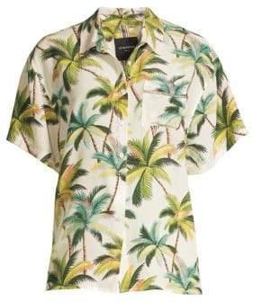Club Tropicana Embellished Print Shirt