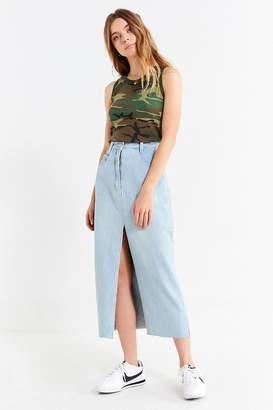 Urban Renewal Vintage Slit Denim Midi Skirt