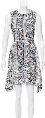 Proenza Schouler Printed Silk Knee-Length Dress