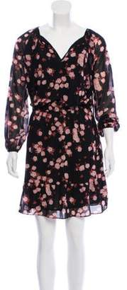 Michael Kors Floral Knee-Length Dress Black Floral Knee-Length Dress