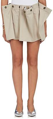 Y/Project Women's Pleated Cotton Twill Miniskirt