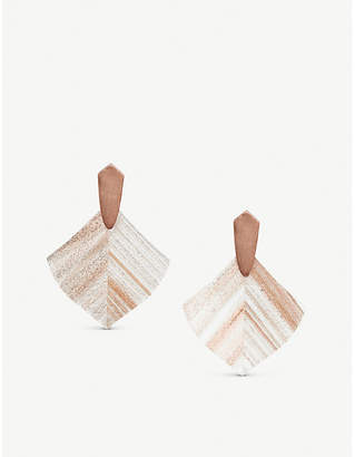 Kendra Scott Astoria 14ct rose gold-plated brass and dusted glass earrings