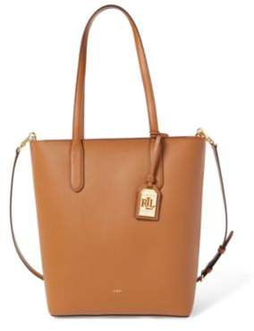 Ralph Lauren Leather Alexis Tote Field Brown One Size