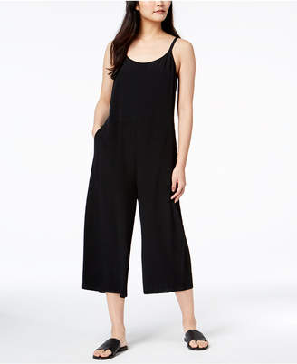 Eileen Fisher Tencel® Blend Sleeveless Cropped Wide-Leg Jumpsuit