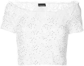 Ermanno Scervino lace cropped blouse