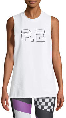 P.E Nation Raserback Graphic Crewneck Performance Tank