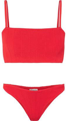 Hunza G - Gigi Seersucker Bikini - Red