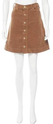 McGuire Denim Corduroy Mini Skirt w/ Tags