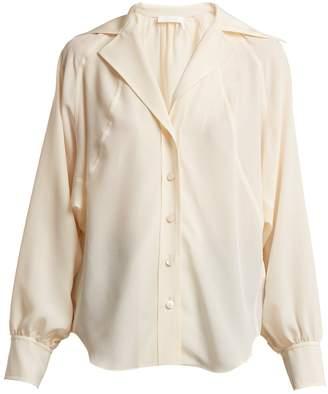 Chloé Open-collar silk crepe de Chine shirt