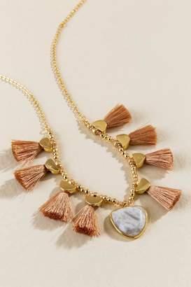francesca's Addyson Tassel Necklace - Beige