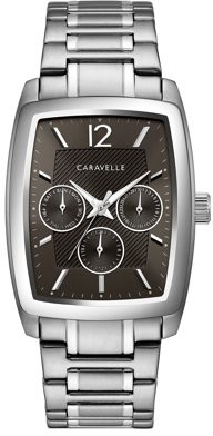 Bulova CARAVELLE Designed by Caravelle Men's Barrel Chronograph Stainless Steel Bracelet Dress Watch