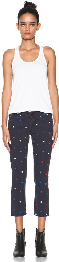 Etoile Isabel Marant Deacon Embroidered Jeans in Marine