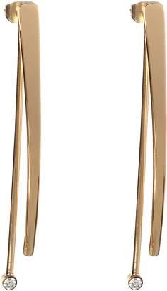 BCBGeneration BCBG Generation 12k Crystal Linear Front Back Drop Earrings