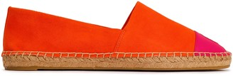 Tory Burch Two-tone Leather And Suede Espadrilles