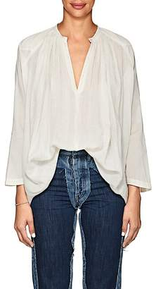 Pas De Calais Women's Pleated Cotton Gauze Blouse