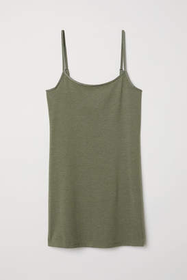 H&M Long Jersey Camisole Top - Green