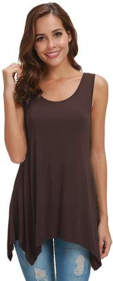 Pamee Loose Soft Tank Tops for Women Sleeveless Tunic Casual Flowy Blouse Shirt