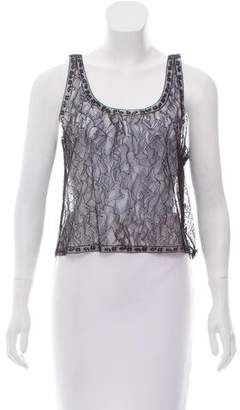 Chanel Lace Scoop Neck Top
