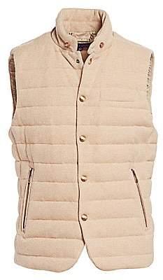 Ralph Lauren Purple Label Men's Whitwell Quilted Merino-Wool Down Vest