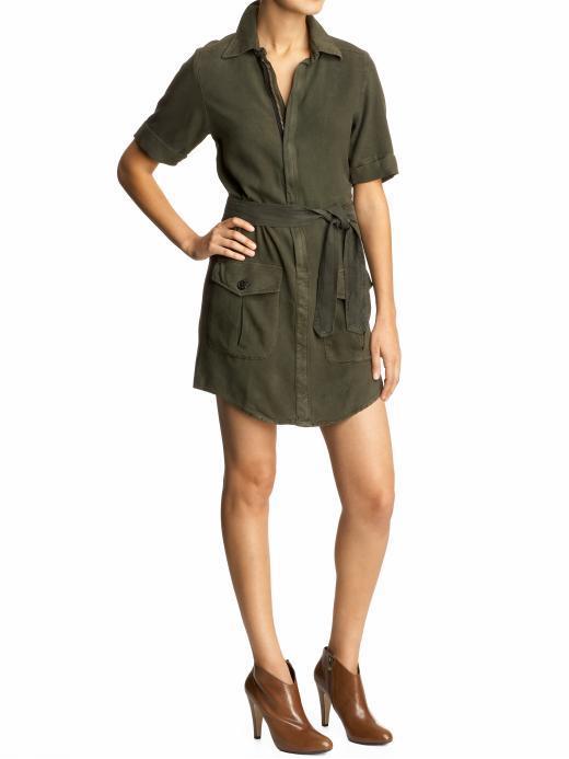 Monrow Military Shirt Dress