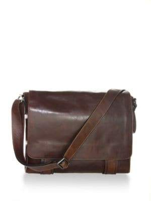 Frye Men's Logan Leather Messenger Bag - Dark Brown