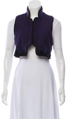Anna Sui Embroidered Cropped Vest