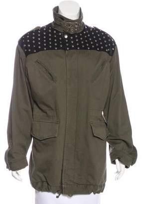 Saint Laurent Leather-Paneled Jacket