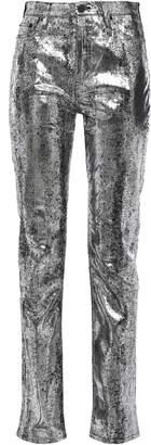 McQ Metallic High-rise Slim-leg Jeans